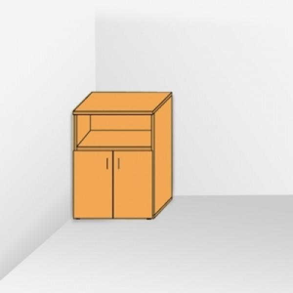 Шкаф средний с открытой полкой 206