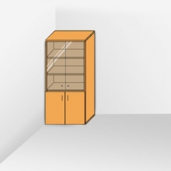 Шкаф со стеклом тонированный 201