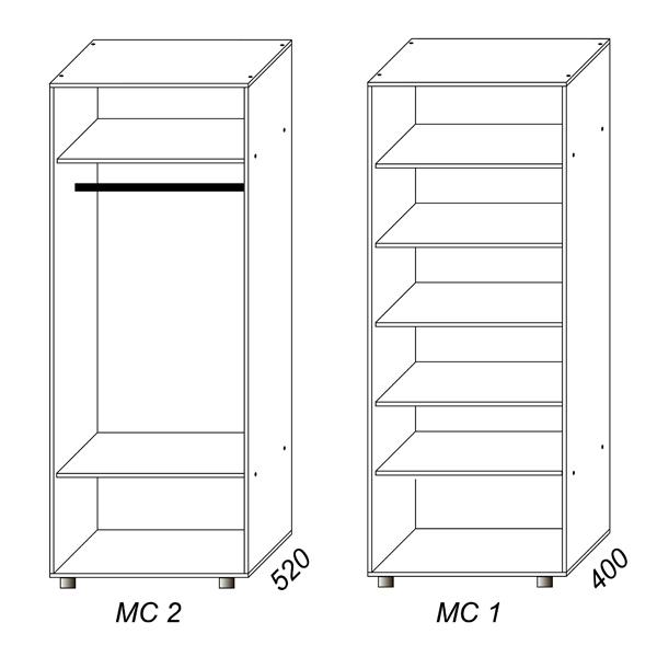 Шкаф (2 двери)