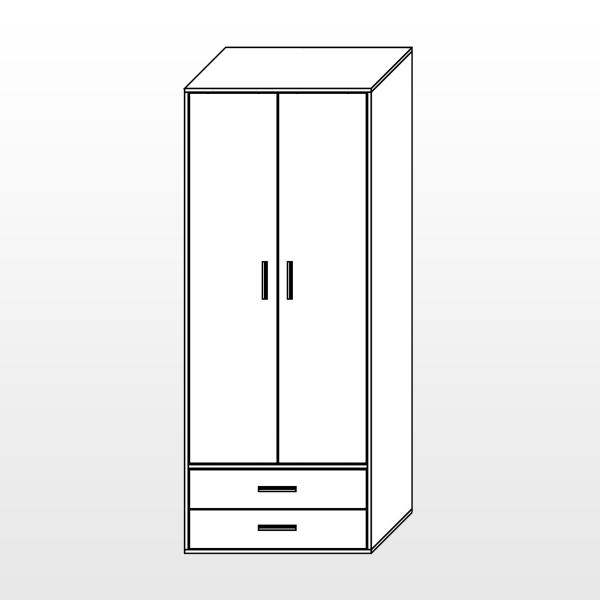 Шкаф (2 двери, 2 ящика)