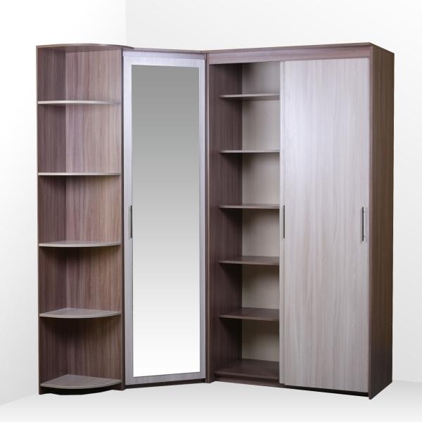 Комплект: шкаф-купе (2 двери), угловой, стеллаж