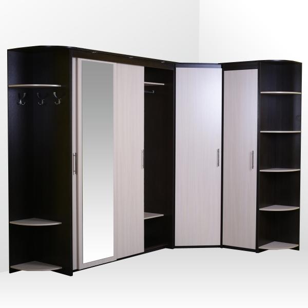 Комплект: шкаф-купе (3 двери), угловой, пенал, стеллаж (2шт.)
