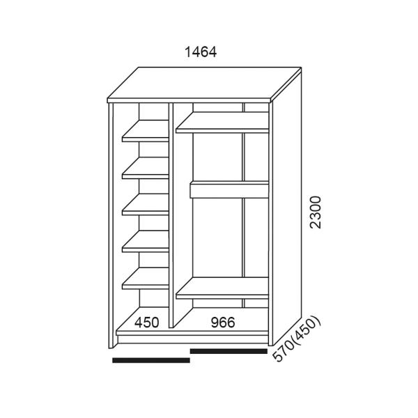 схема шкафы купе вектор