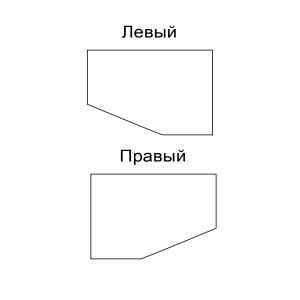 левый и правый компьютерный стол